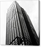 Empire State Building 1950s Bw Canvas Print