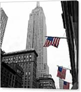 Empire State Building In The Mist Canvas Print