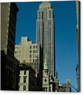 Empire State Building Seen From Street Canvas Print