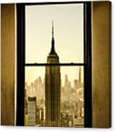Empire State Building View Canvas Print