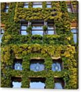 Empress Hotel Windows Canvas Print