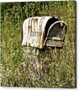 Empty Mailbox At 35476 Canvas Print