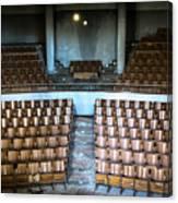 Empty Movie Theater - Urban Exploration Canvas Print