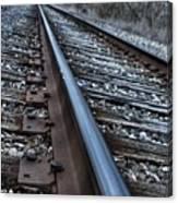 Empty Railroad Tracks Canvas Print