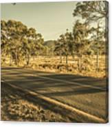 Empty Regional Australia Road Canvas Print