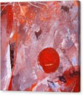 Encased In Red Canvas Print