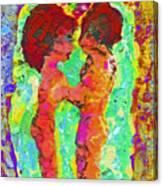 Encaustic  Love Canvas Print