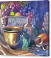 Enchanced Still Life Honey Bear Canvas Print