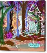 Enchanted Christmas Forest Canvas Print
