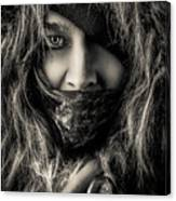 Enchanted Concept Black And White Canvas Print