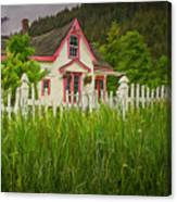 Enchanted Cottage With Picket Fence Canvas Print