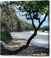 Enchanted Rocks Koki Beach Haneoo Hana Maui Hawaii Canvas Print