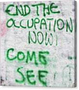 End The Occupation Now Canvas Print