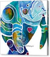 Endangered Manatee Canvas Print