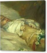 Enfant Mort Detail 1881 Canvas Print