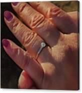 Engagement Ring Canvas Print
