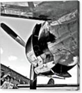 Engine Lcokheed Constellation Canvas Print