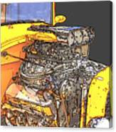 Engine Sketch 2 By Darrell Hutto Canvas Print