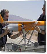 Engineers Mount A Scaneagle Unmanned Canvas Print