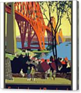 England And Scotland, Bridge Canvas Print
