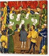 England: Court, 15th Century Canvas Print
