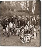 England: Hunters, C1905 Canvas Print
