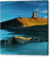 England, Northumberland, Dunstanburgh Castle Canvas Print