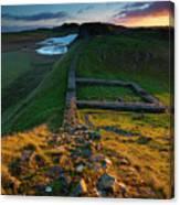 England, Northumberland, Hadrians Wall Canvas Print