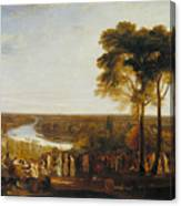 England Richmond Hill On The Prince Regent's Birthday Canvas Print