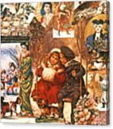 English Christmas Cards Canvas Print