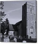English Churchyard Canvas Print
