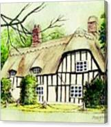 English Cottage In Cambridgshire Canvas Print