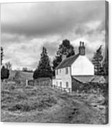 English Cottage In Winter Canvas Print