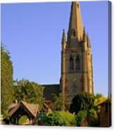 English Country Church Canvas Print