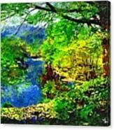 English Country Lake 1d Canvas Print