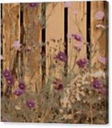 English Garden In Pastels Canvas Print