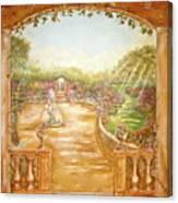 English Garden View Canvas Print