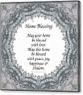 English Home Blessing Canvas Print