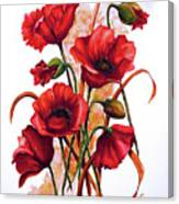 English Poppies 2 Canvas Print