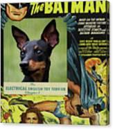 English Toy Terrier Art Canvas Print - Batman Movie Poster Canvas Print