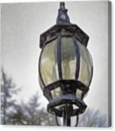 English Victorian Style Park Lamp Canvas Print