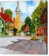 English Village Street Canvas Print