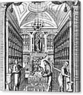 Engraving Of Pharmacy, Geiger, 1651 Canvas Print