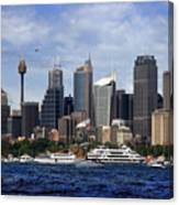 Enjoying Australian Day On The Water Canvas Print