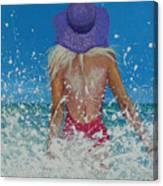 Enjoying The Sea Canvas Print