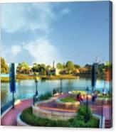 Enjoying The Shade World Showcase Lagoon Walt Disney World Canvas Print