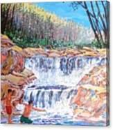 Enjoying Waterfall Canvas Print
