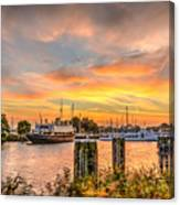 Enkhuizen Sunset Canvas Print