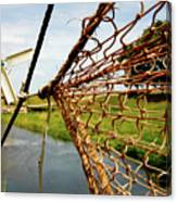 Enkhuizen Windmill And Nets Canvas Print