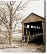Enochsburg Indiana Covered Bridge Canvas Print